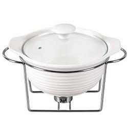 Мармит керамический Maestro MR-10960-72 225 мм 1.2 л Белый FL-652, КОД: 1334578