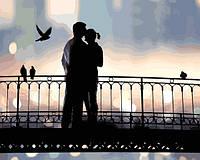 Картины по номерам 40×50 см. Влюбленная пара на мосту, фото 1