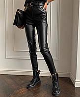 Брюки женские кожаные на флисе 42 44 46, фото 1