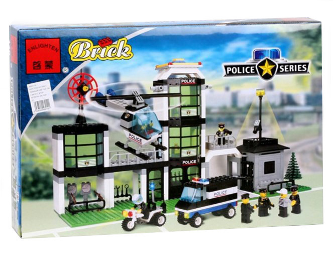 Конструктор BRICK 110 полицейский участок аналог Лего