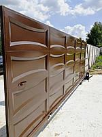 Автоматические откатные ворота ш5000, в2000 (дизайн филенка, шоколадка - линза), фото 3