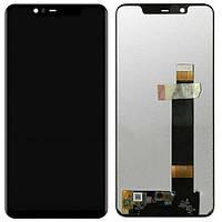 Дисплей для Nokia 5.1 Dual Sim (TA-1075, TA-1061), модуль в сборе (экран и сенсор), черный, оригинал