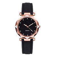 Часы женские Lecopike наручные кварцевые с чёрным ремешком.