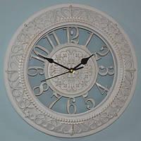Настінні годинники білі з патиною (30 см), фото 1