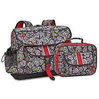 Комплект школьный рюкзак-ранец + ланчбокс Bixbee. Zombie