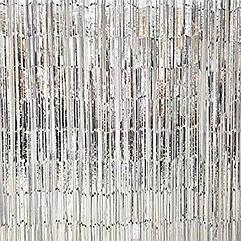 Шторка занавес из фольги для фотозоны  серебро глянец  2 х 1 метр