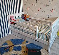 Деревянная кровать Адель 80*190 + ящики + матрас Акция