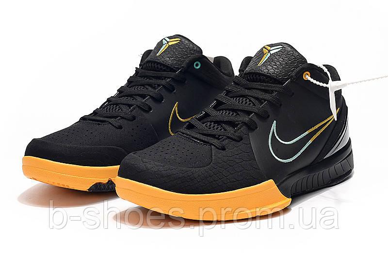 Мужские Баскетбольные кроссовки Nike Kobe 4 Pronto (Black/yellow)