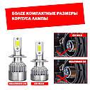 Лампа светодиодная для фар С6MAX  H3 3800 Lum, цвет свечения 6000К, 2 шт/компл., фото 2