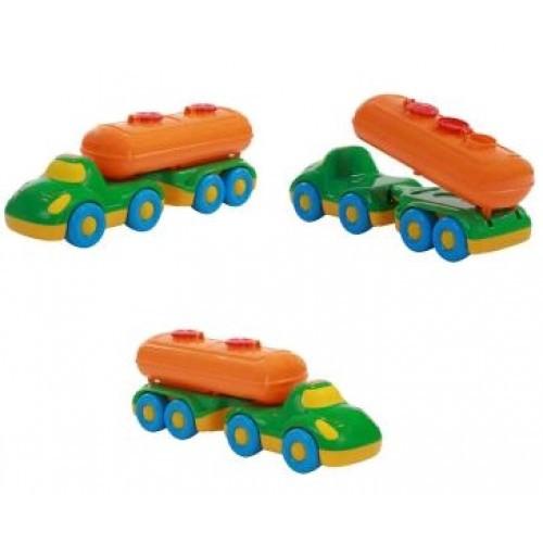 Автомобіль Дружок з напівпричепом-цистерною 42x13x15 5см ТМ POLESIE