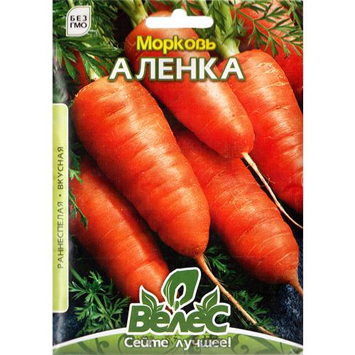 """Насіння моркви """"Оленка"""" (15 р) від ТМ """"Велес"""""""