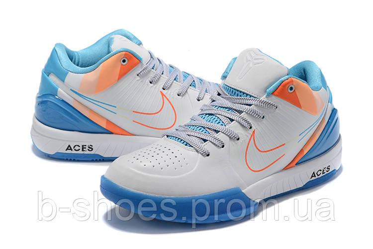 Мужские Баскетбольные кроссовки Nike Kobe 4 Pronto(White/blue)