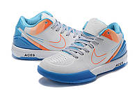 Мужские Баскетбольные кроссовки Nike Kobe 4 Pronto(White/blue), фото 1