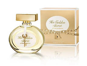 Уценка Antonio Banderas Her Golden Secret edt 80 ml (лиц.),-течет, 80%, брак колпачка