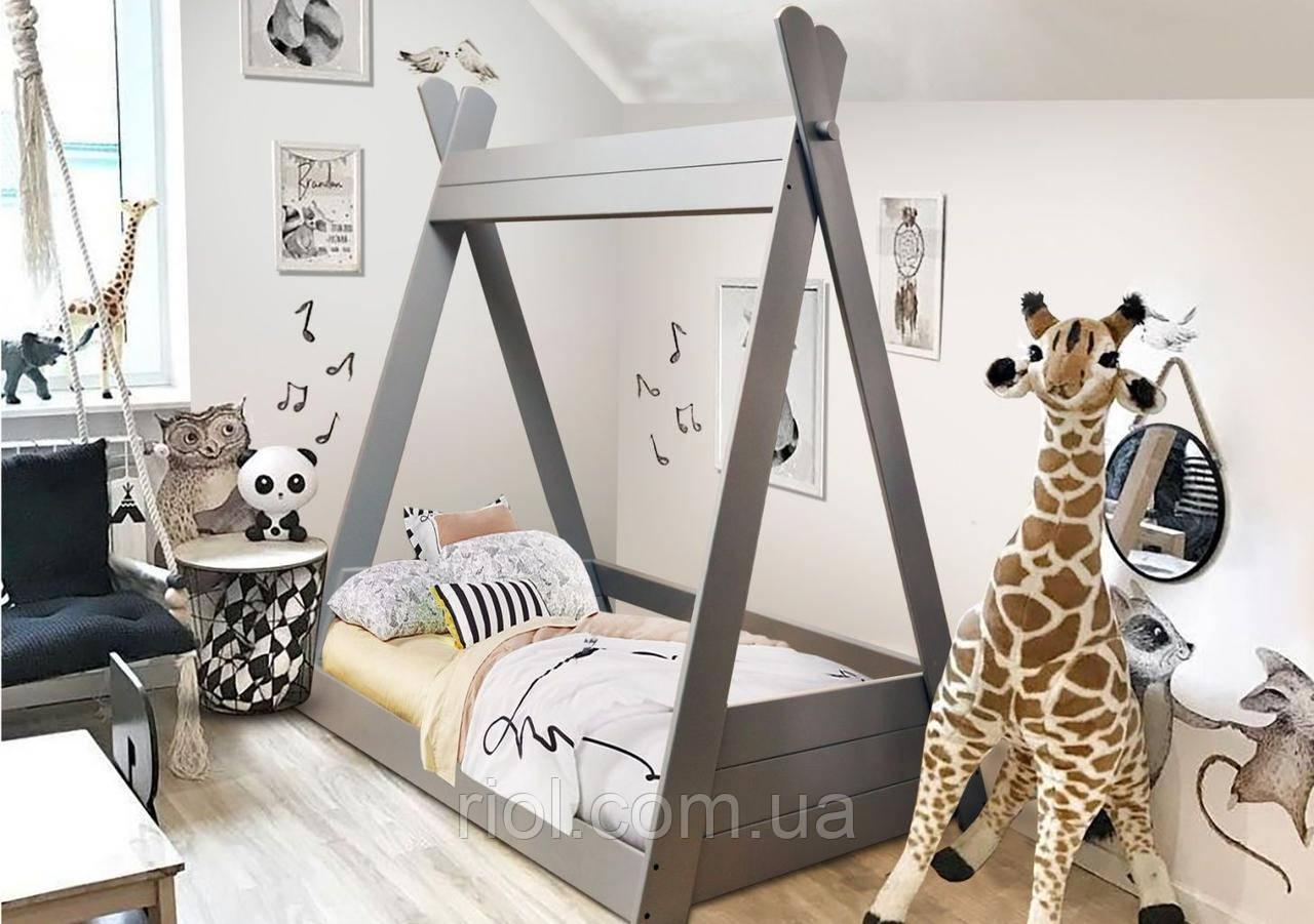 Детская кровать Моана из массива бука