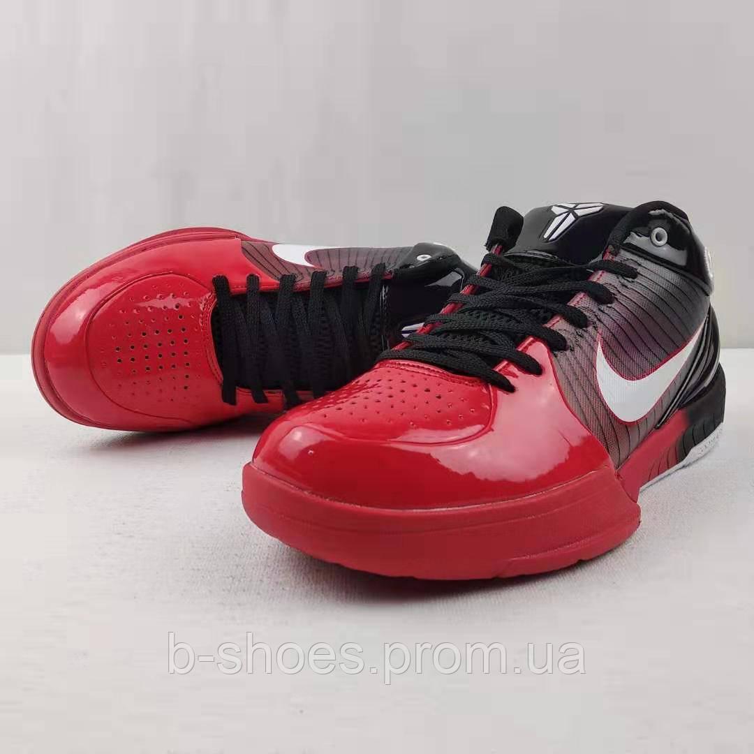 Мужские Баскетбольные кроссовки Nike Kobe 4 Pronto(Black/red)