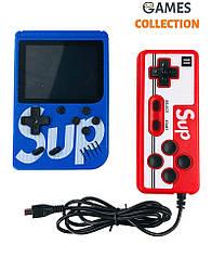 Ретро игровая приставка (Игровая консоль) Game Box sup 400 игр в 1 + джойстик Blue