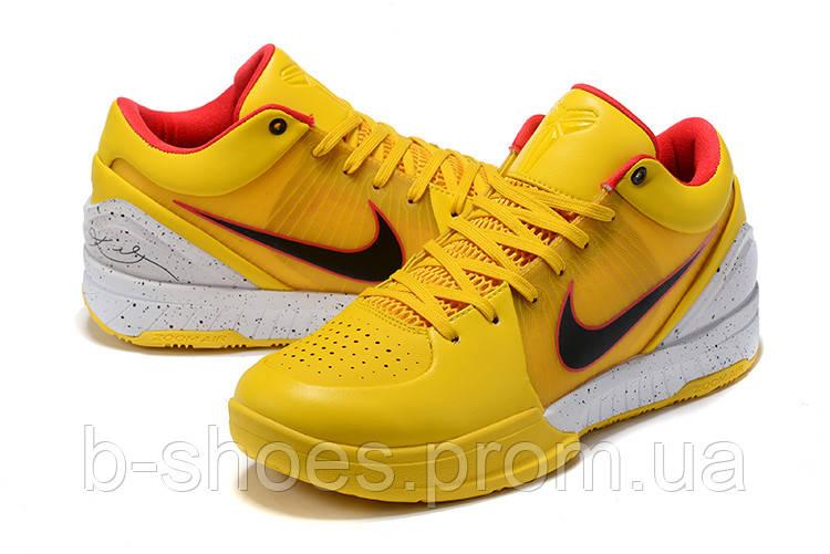 Мужские Баскетбольные кроссовки Nike Kobe 4 Pronto(Yellow)