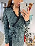 Женское платье на запах с кружевом (в расцветках), фото 4