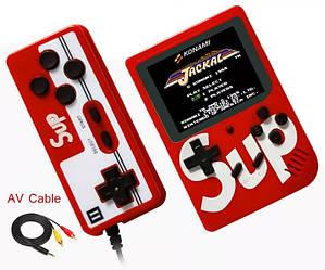 Ретро игровая приставка (Игровая консоль) Game Box sup 400 игр в 1 + джойстик Red