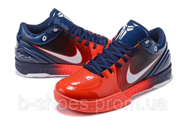 Мужские Баскетбольные кроссовки Nike Kobe 4 Pronto(Blue/red)
