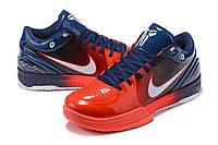 Мужские Баскетбольные кроссовки Nike Kobe 4 Pronto(Blue/red), фото 1