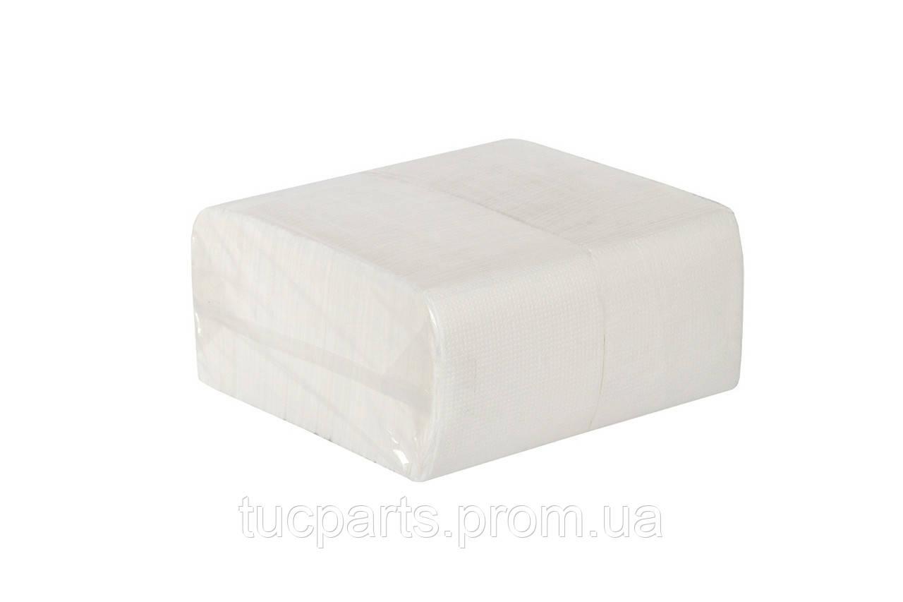 Салфетка барная 400 шт./упаковка, однослойная белая