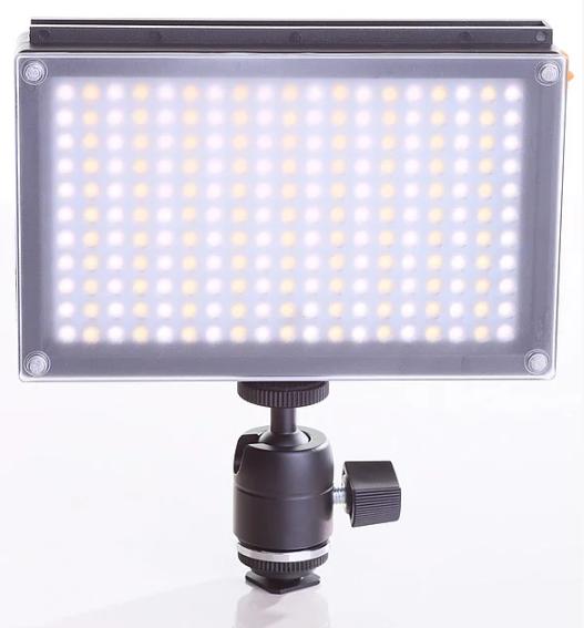 Накамерный видео свет Lishuai (Оригинал) LED-209AS (Би-светодиодная) + шарнирный держатель (LED-209AS)