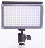 Накамерный видео свет Lishuai (Оригинал) LED-209AS (Би-светодиодная) + шарнирный держатель (LED-209AS), фото 1
