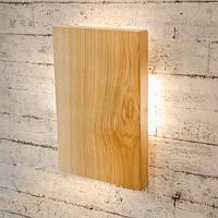 Деревянный настенный светильник Vela Four Sides (9Вт, 30 см)