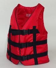 Жилет спасательный красный 110-130 кг.