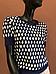 Женский синий пуловер, Marina V FW19-108, с коротким рукавом, фото 2