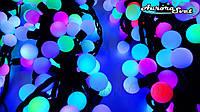 LED гирлянда RGB шарики (18mm) от AuroraSvet 20m. Светодиодная гирлянда.