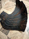 Ножи для почвофрезы R175 / 180N / 190N / 195NM ( 9 правый + 9 левый) - 18шт( комплект) мотоблоков, фото 5