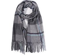 Мужской шарф клетчатый шерстяной зимний
