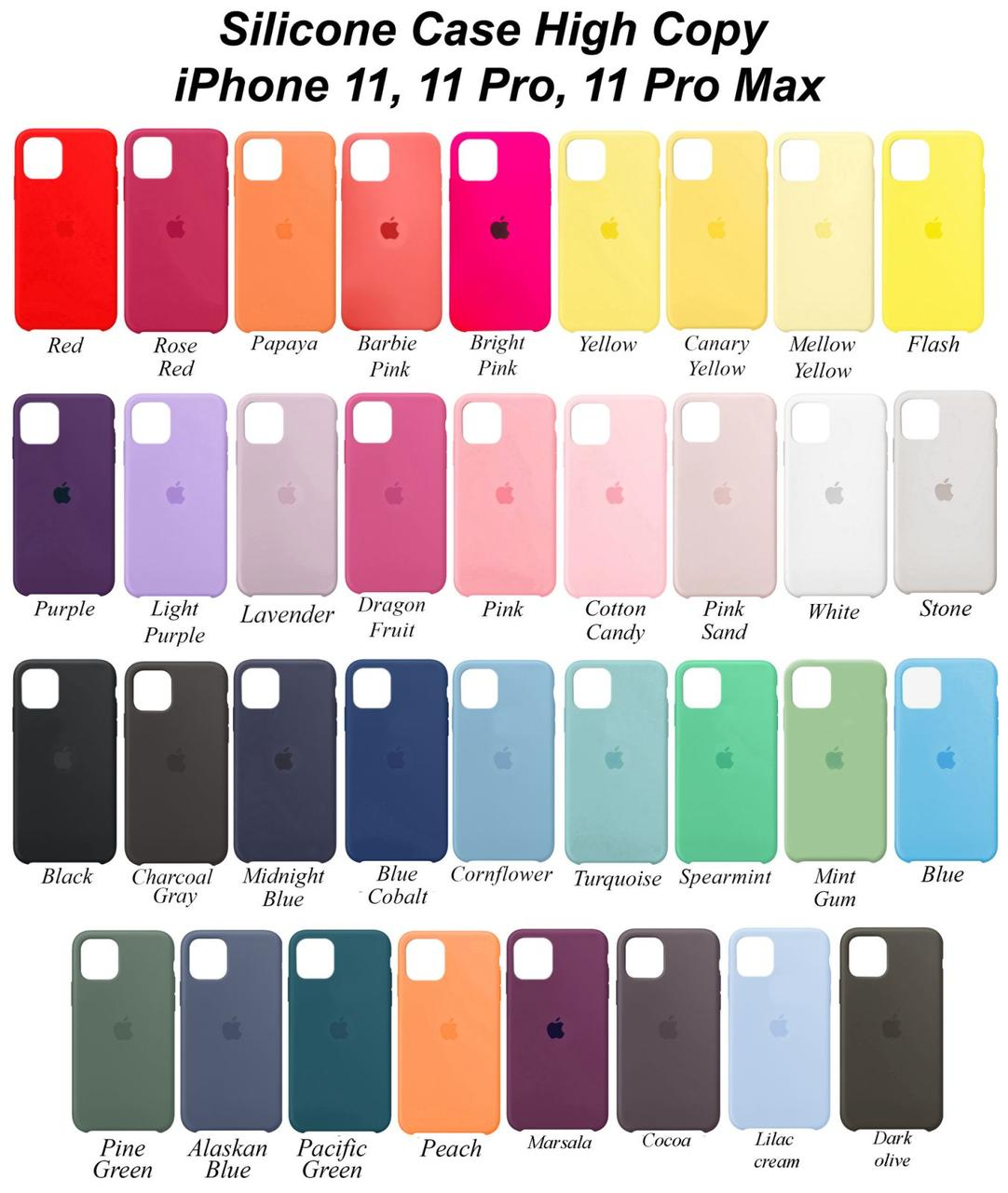 Чехол  iPhone 11 Pro Max Silicone Case High Copy