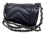 Жіноча сумочка - клатч . Італія 100% натуральна шкіра . Синя, фото 2