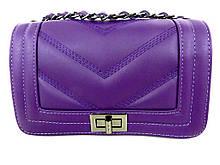 Жіноча сумочка - клатч . Італія 100% натуральна шкіра . Фіолетова