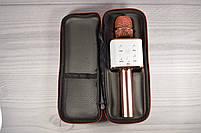 Караоке-микрофон 2 в 1 Q7 rose с чехлом. Беспроводной (блютуз), фото 2