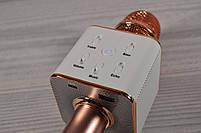 Караоке-микрофон 2 в 1 Q7 rose с чехлом. Беспроводной (блютуз), фото 4