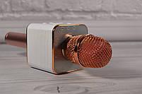 Караоке-микрофон 2 в 1 Q7 rose с чехлом. Беспроводной (блютуз), фото 5
