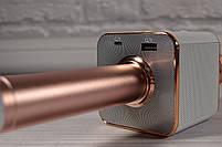 Караоке-микрофон 2 в 1 Q7 rose с чехлом. Беспроводной (блютуз), фото 6
