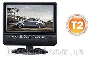 """Портативний телевізор c вбудованим T2 тюнером OP-902 (9""""/USB/T2/Акумулятор)"""