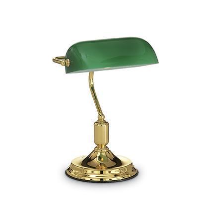 Настольная лампа Ideal Lux LAWYER TL1 OTTONE 013657