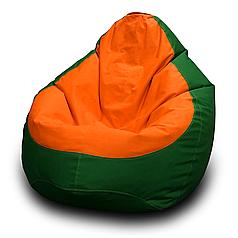 Кресло мешок груша Оксфорд Оранжевый/Зеленый