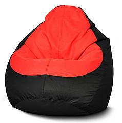 Кресло мешок груша Оксфорд Красный/Черный