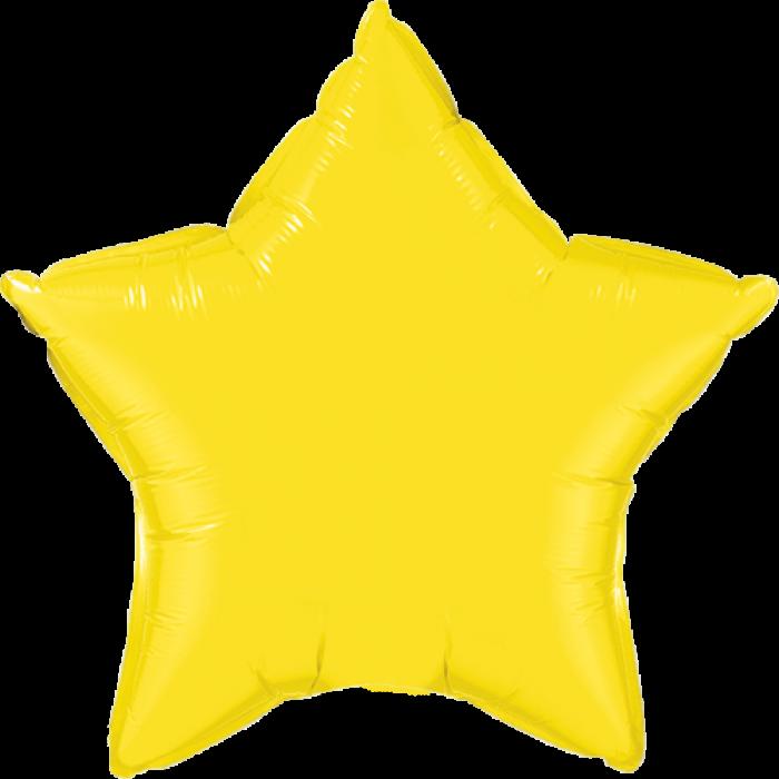 Фольгированный шар 10' Китай Звезда желтая макарун, 25 см