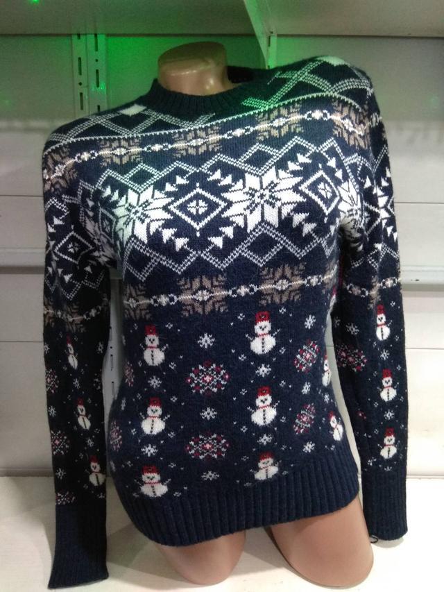 фото свитер женский новогодний