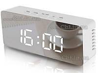 Часы DS-615 зеркальные настольные mirror Батарейки usb 5В настольные цифровые led электронные