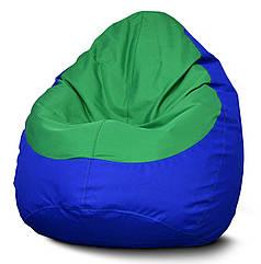Кресло мешок груша Оксфорд Зеленый/Синий